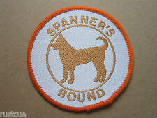 Spanner's Round Walking Hiking Woven Cloth Patch Badge