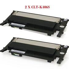2PK for Samsung CLT-K406S Compatible Black Toner Cartridges CLP360 CLP365 C410W