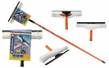 HOMEOFFICE 3.5 M TELESCOPIC SMEAR FREE SQUEEGEE SOFT HEAD WINDOW CLEANING KIT