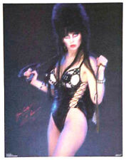 "Vintage Original Elvira in Leather ""Yours Cruely"" Poster- UNUSED Rolled"