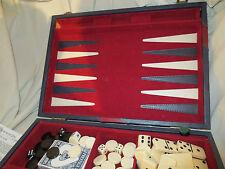 Multi Game Set Chess Backgammon and Dominos Attache Case