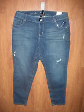 LANE BRYANT 16 Genius Fit Distressed Stretch Denim Jeans (16W 0X 1X) NWT