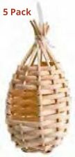 5 x DROP WICKER FINCH / CANARY NESTS FOR NESTING/BREEDING FINCHES, NEST BOX