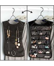 Hanging Closet Accessory Organizer ~ Jewelry Holder Travel Case Earrings Storage