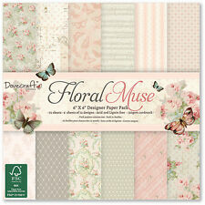 "Floreale Muse-pacchetto di documenti 6""x6"" - Dovecraft"