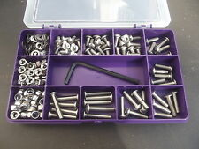 M3 Socket Button Screw, Nut, Washer & Key Kit  A2 Stainless Steel. 180 Pieces