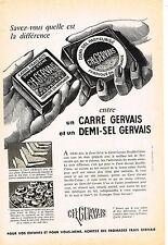 PUBLICITE ADVERTISING  1959   GERVAIS  les fromages  carrés