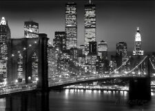 New York-Brooklyn Bridge Giant Poster Print, 55x39
