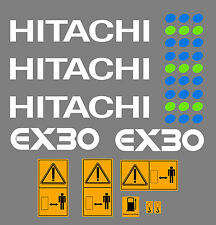 HITACHI EX30 MINI ESCAVATORE YANMAR SERIE DECALCO