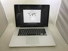 MacBook Pro 15 Late 2011 MD318LL/A 2.2GHz i7 10GB 500GB Very Good