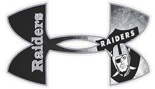 Under Armour Oakland Raiders Football Truck/Window Decal Sticker  - Set of 3 .