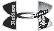 Under Armour Oakland Raiders Football Truck/Window Decal Sticker  - Set of 3
