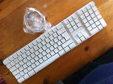 White Apple USB wired keyboard  A1048, for iMac, Mac Pro, G5, G4, London Stock