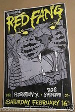 Red Fang Original Show Gig Poster 2013 Concert Federation X Dog Shredder
