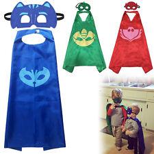 3 x Kids Superhero PJ Masks Cape Mask Set Owlette Catboy Cosplay Costume Party