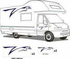MOTORHOME VINYL GRAPHICS STICKERS DECALS SET CAMPER VAN RV CARAVAN HORSEBOX set1