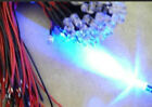 4pcs New 3mm Blue Water Clear Hi-Power Bright 8000MCD Pre-Wired Cable 3V LED,3LB
