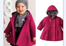 New baby girl Hooded jacket coat outerwear  Girls Clothes size 6M-24M