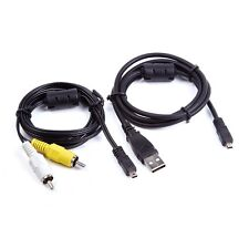 USB Data+AV A/V TV Video Cable Cord For Panasonic Lumix DMC-G5 DMC-ZS40 s Camera