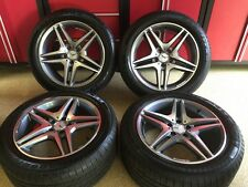 MERCEDES 18 IN S63 GUNMETAL  RIMS TIRES FITS S550 S600 S55 S63 S500 AMG
