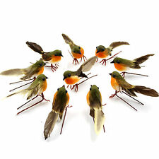10 x VERY CUTE Artificial Feather Robin Bird Christmas Tree Decoration Craft