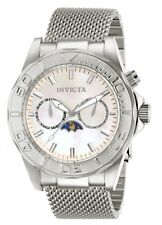 New Mens Invicta 80323 Pro Diver Moonphase Pale Rose Gold Dial Steel Watch