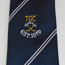 Tyneside Golf Club tie FAR AND SURE British Sport Golfers Golfing vintage TGC
