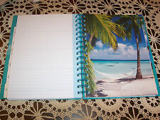 2014 Weekly/Monthly Calendar Tropical durable spiral notebook 7x9 planner tabs
