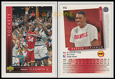 NBA UPPER DECK 1993/94 - Hakeem Olajuwon # 113 - Rockets - Ita/Eng - MINT