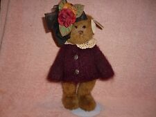 """TEDDY BEAR DOLL PHOEBE RETIRED #1185 BEARINGTON COLLECTION 14"""" NEW w/tag BROWN"""