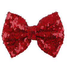 Sequins Bow Hair Clips Kids Barrette for Costume Party Hair Accessories Cute
