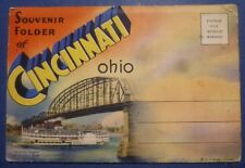 FOLDER USA - CINCINNATI OHIO - 18 VEDUTE - ANNI '30