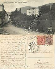 Cartolina di Cumiana, castello e parrocchia - Torino, 1927