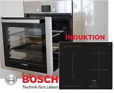 Bosch einbau Herdset Autark Backofen Backwagen + Induktion Kochfeld Combi Zone