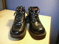 Women's Harley Davidson Black Biker Boots With Heels Lace Up Size 6 4119