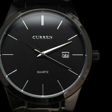 CURREN Fashion Men Stainless Steel Date Analog Military Sport Quartz Wrist Watch