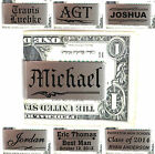Personalized Metal Money Clip Customized Groomsman Wedding Party Fathers Gifts
