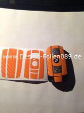 CHARBON Orange clé Protection BMW Touche 1 3 5 X 5 X 6 E60 E70 E90 E91 E92 E93 M