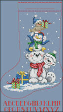 """Christmas Stocking #25"" Cross Stitch Pattern Chart"