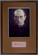 SCHOENBERG Schönberg COMPOSER Hand SIGNED AUTOGRAPH + PHOTO + MAT Autogramme
