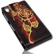 Design 4 Flip Style Handy Tasche Cover Case Hülle Etui für Sony Xperia Z1