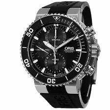 New Oris Aquis Chronograph Rubber Strap Men's Watch 77476554154RS