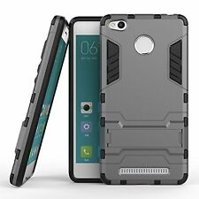 HONEY MONEY (XIAOMI REDMI 3S PRIME) KICK STAND Shockproof BACK Case -POWER GREY