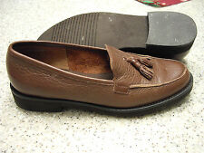 Womens Shoes ETIENNE AIGNER Size 6 1/2M Brown Leather JAZZY TASSLE LOAFER EXC