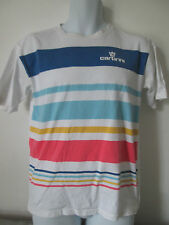 CARBRINI - WHITE STRIPED LOGO  T-Shirt Size XL BOYS 100% COTTON