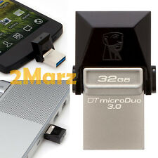 Kingston MicroDuo 3.0 OTG 32GB 32G USB 3.0 Flash Drive Mobile Android PC Metal