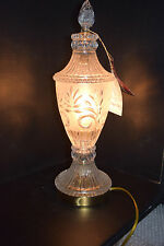 Crystal Clear Industries 24% Lead Crystal Frosted Cut Glass Accent Lamp