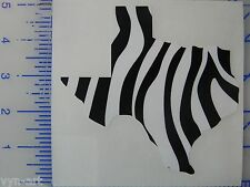 State of Texas - Zebra print vinyl decal / sticker for car