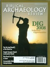 2008 Biblical Archaeology Review Magazine: Dig Volunteer/Temple Treasures/Scroll