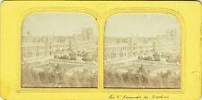 Vue stéréos panoptique : Commune de Paris , 1871 , Vue d'ensemble des Tuileries